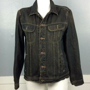 Old Navy Mens 100% Cotton Denim Jacket Sz L